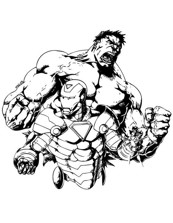 Incredible Hulk And Iron Man Coloring Page Hulk Ironman