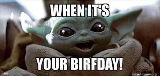 Pin By Movie Lover On Baby Yoda Yoda Funny Yoda Meme Yoda Happy Birthday