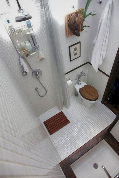 Designing Your Dream Tiny House Bathroom Advice From A Full Time Tiny Houser The Tiny Life House Bathroom Designs Tiny House Bathroom Tiny Bathrooms Small tiny narrow bathroom designs