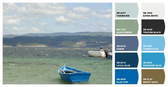Sherwin-Williams paint colors inspired by Fisterra, Spain.