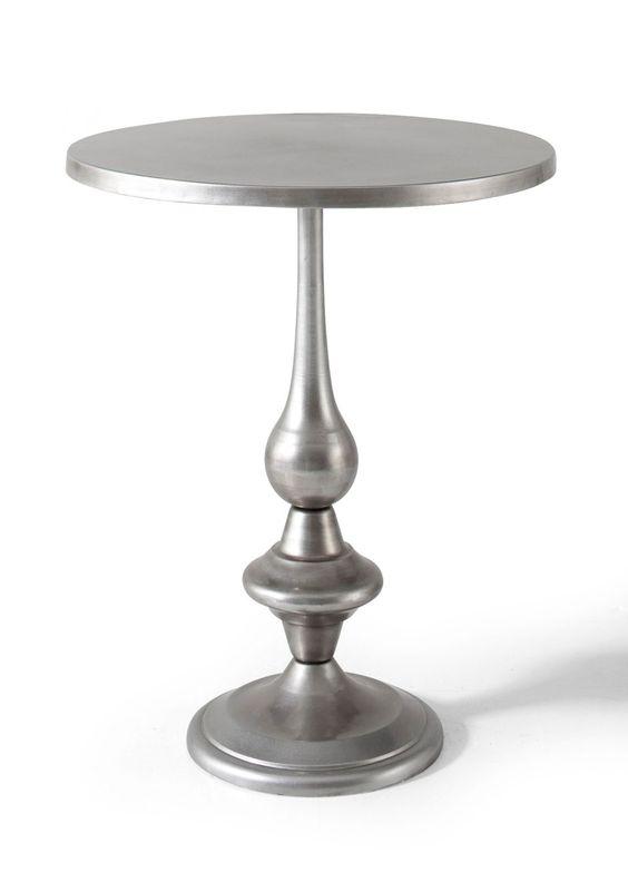 """final coffe table h 74cm d 60cm  Beistelltisch """"Silver"""" silber - Wohnen - bpc living - bonprix.at"""