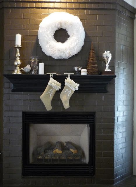 Go dark with the paint...I like the mantel on just the front.