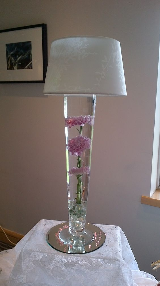 Submerged flower with lampshade .  www.blueorchid-events.com