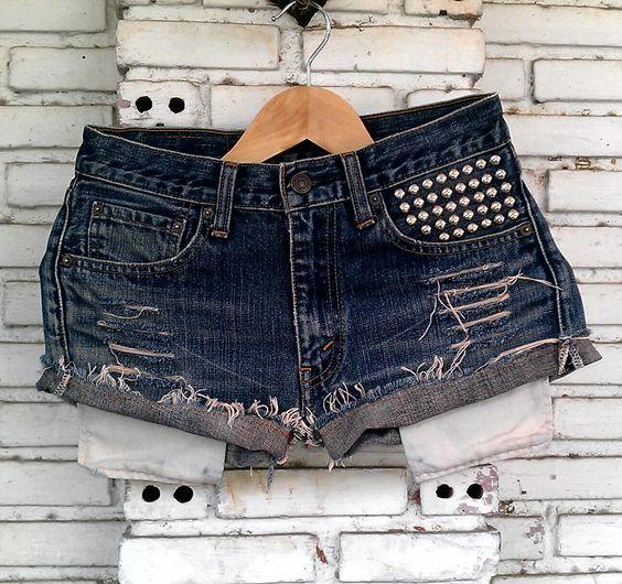 Vintage Studded Shorts 29 Waist by KodChaPhorn on Etsy, $25.00