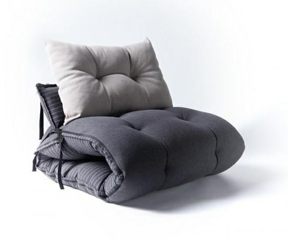 Multifunctional bed design turns into chairs and bean bag