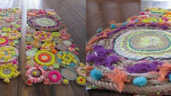 Tappeto multicolor fai da te  Crochet & Sweet Amigurumi ...