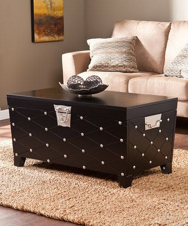 Another great find on #zulily! Black Nailhead Cocktail Table Trunk #zulilyfinds