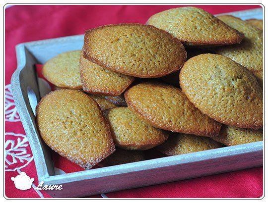 Madeleines saveur pain dépice - petit gâteau de Noël