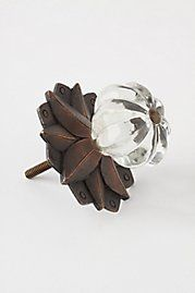 Clear Glass Flower Knobs by knobsandmore on Etsy | knobalicious ...