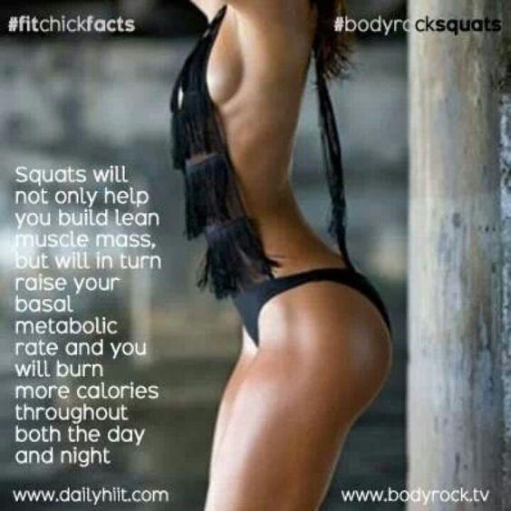 Squats...