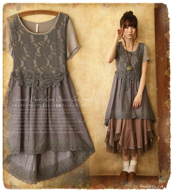 via http://item.rakuten.co.jp/favorite-one/049gk - this style top/ dress but with a plain long black straight skirt beneath...