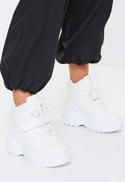 Missguided White Super Chunky Sole Utility Trainer Boots   Shopping, Women  shoes online, Stylish sneakers