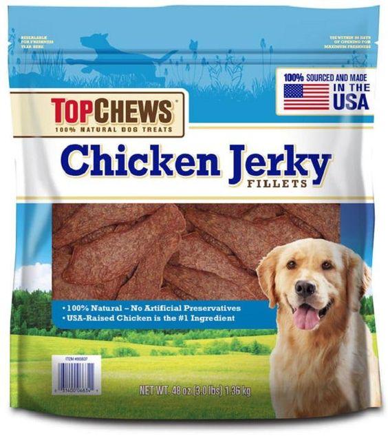 Top Chews  Natural Dog Treats Chicken Jerky