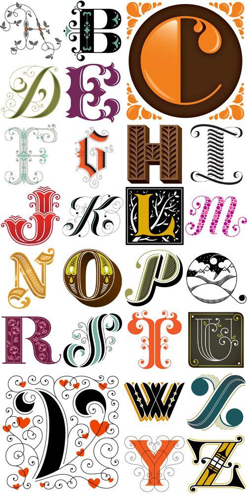 Decorative Initial Caps alphabet