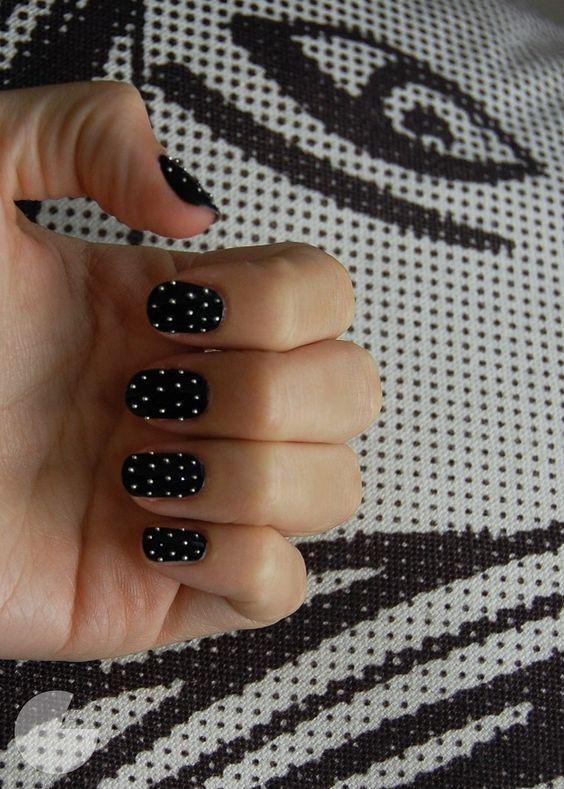 Stud Nails. Fabulous DIY Fall/Winter Nails Tutorials