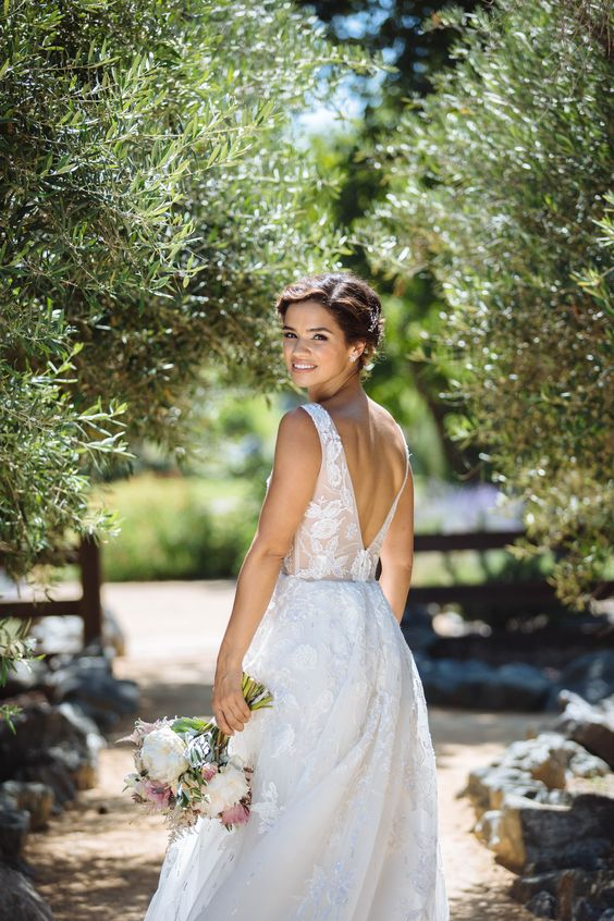 Jorge Manuel Wedding Dress With Deep-V Back