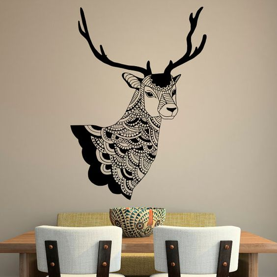 Country Wall Decor For Bedroom : Deer wall decal country decals vinyl stickers tribal