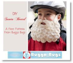 Free DIY Santa Beard tutorial with pattern