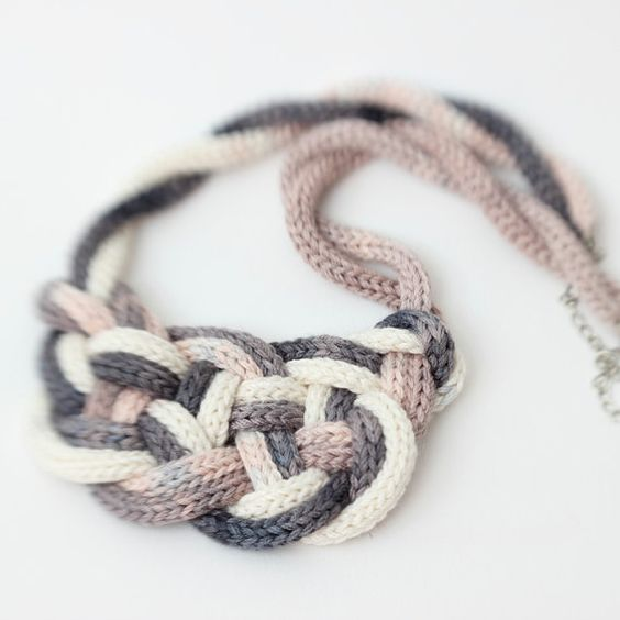 French Knitting Jewellery : Sale nautical style knot necklace hand french spool