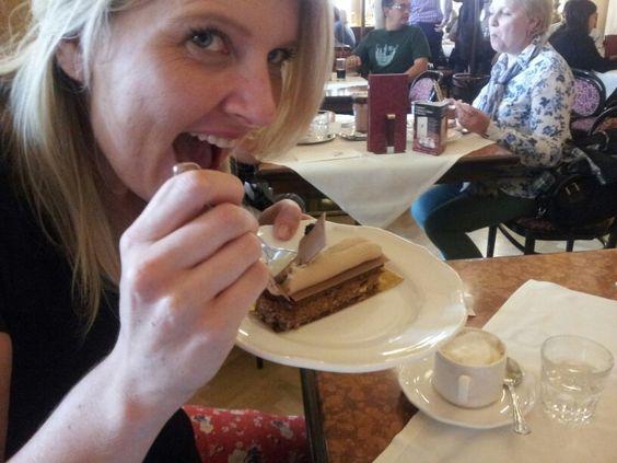 hazelnut and chocolate 'kiss', cafe central, vienna