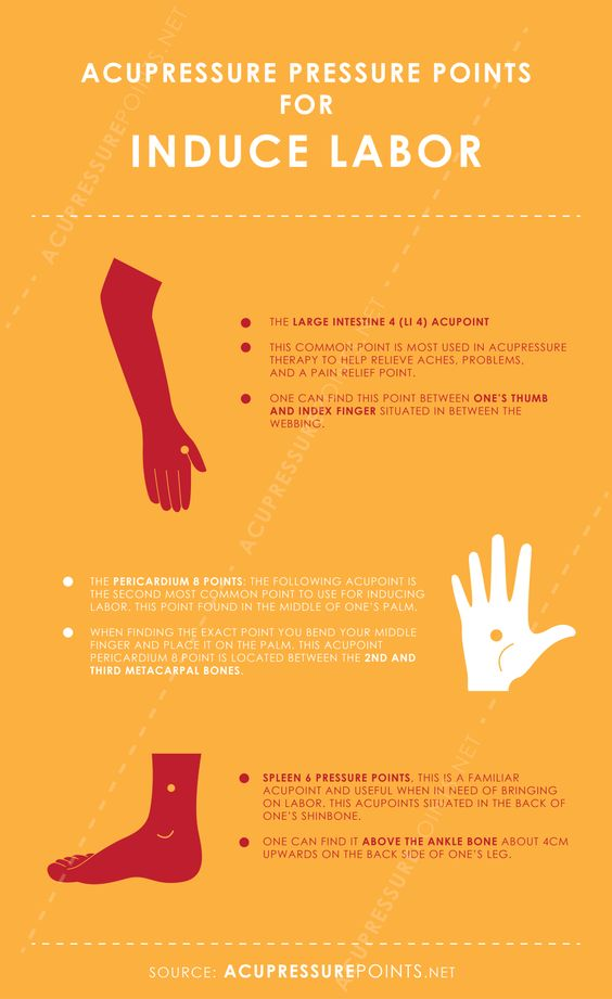 Acupressure Points to Induce Labor Infographic | Baby ...