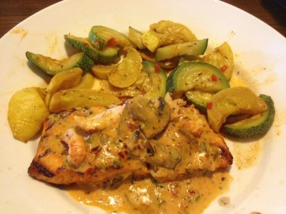 TGI Fridays Grilled Salmon with Langostino Lobster Review - News - Bubblews