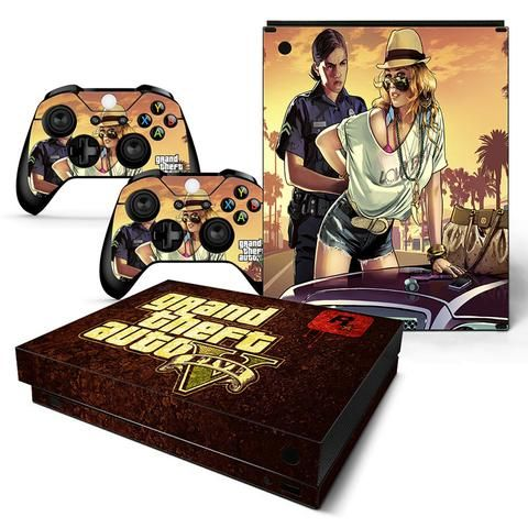 Gta Angry Police Officer Stylish Girl Brown Xbox One X Skin Xbox