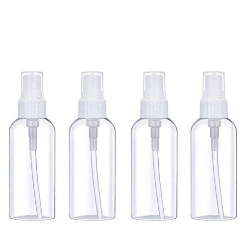 Alcohol Spray Bottle Masqudo 1 7oz 50ml Clear Empty Fine Mist Plastic Mini Travel Bottle Spra In 2020 Essential Oil Perfume Spray Bottle Fine Mist