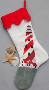 Lighthouse Christmas Stocking