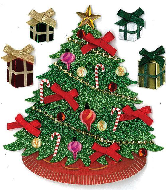 EK Success Dimensional Stickers-Classic Tree Trees, Ek success and
