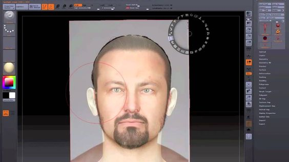 ZBrush 4-Spotlight tutorial (Part 03) Practice with SpotLight texturing a 3D head with a source image