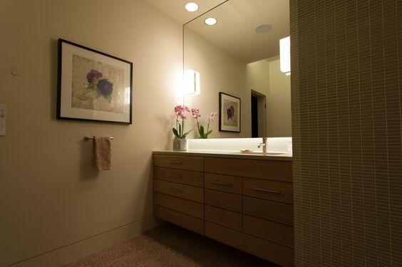 Inside Rick Torcasso's Thermal Mass Green Home - Custom made vanity with Dornbracht Meta.02 faucet