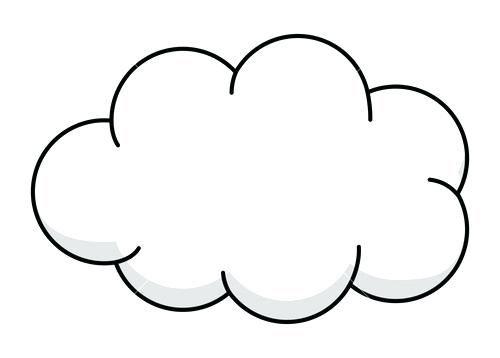 Pin De Cloud Clipart Em Cliparts Desenho De Nuvem Molde De Nuvem Nuvem