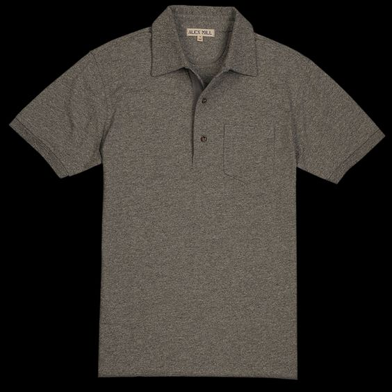 UNIONMADE - Alex Mill - Rugby Polo in Marled Grey