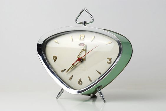 Alarm clock  Golden Rooster by TheOppositeShop on Etsy,