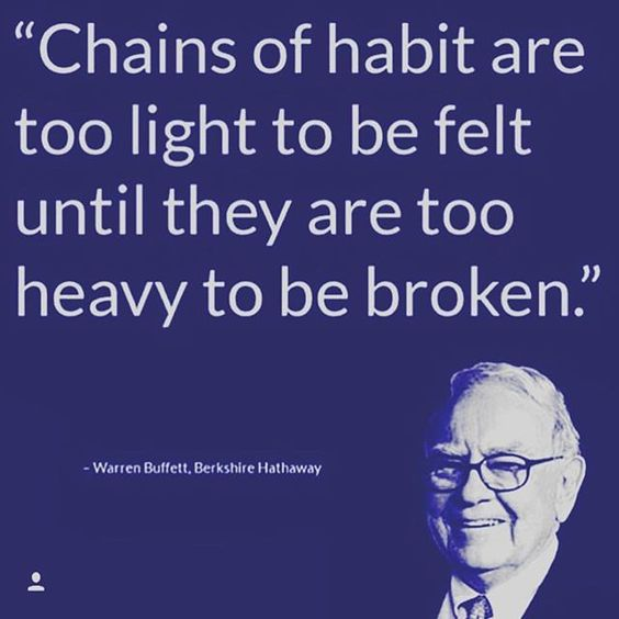 Most people are the bitch of their own brains. Control your habits before they become too strong and control you. #stopprocrastinating