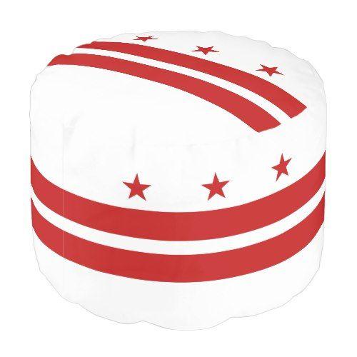Patriotic Washington Dc State Flag Pouf Zazzle Com In 2020 Washington Dc State Washington Dc Flag Washington Dc