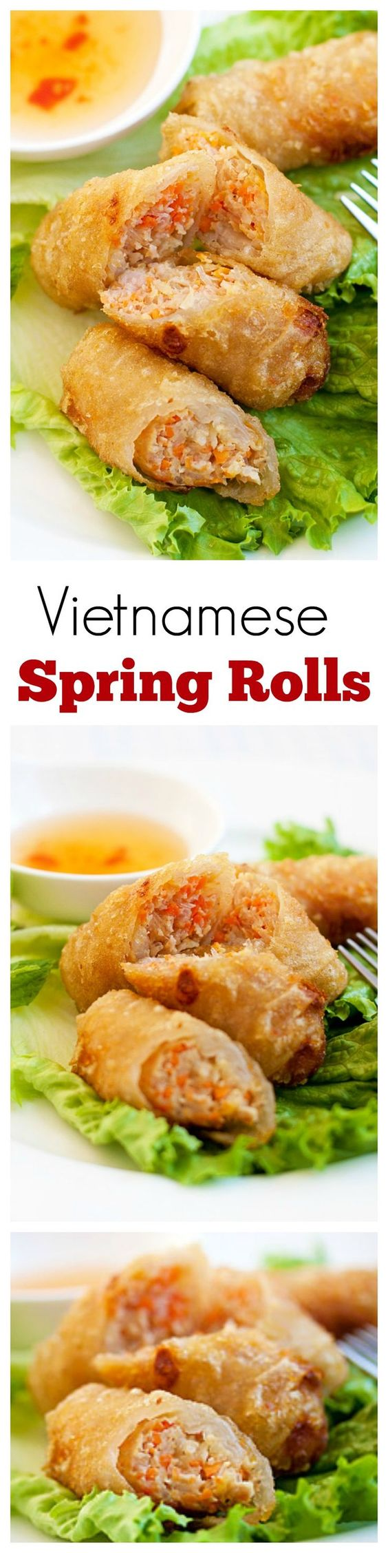 Vietnamese Spring Rolls (Cha Gio) - BEST spring rolls ever deep-fried ...