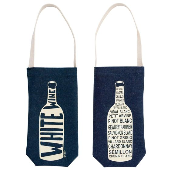 Maptote Denim White Wine Tote | eBay