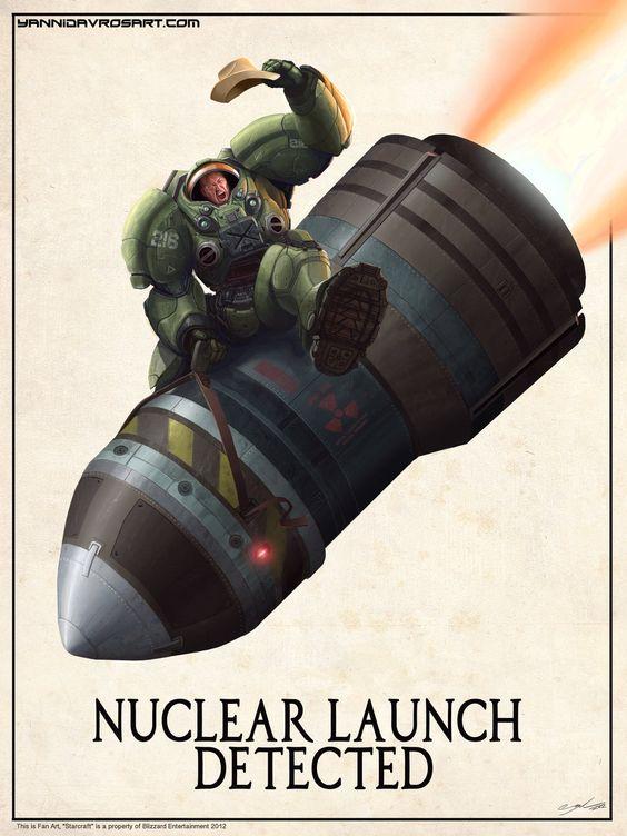 Starcraft Terran Nuke Rider Poster by *ProlificPen. Hell Yeah!
