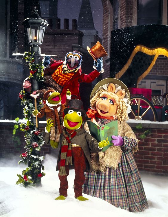 the muppet christmas carol disney style lettering