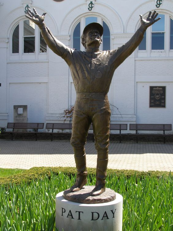 Pat Day sculpture at Churchill Downs