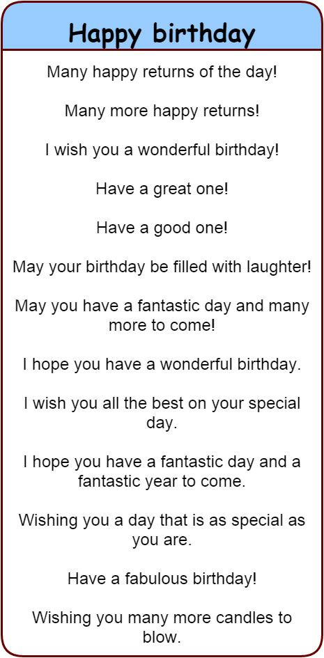 Fun and different ways to wish people 'happy birthday' in English. 'Happy birthday' in 30 different languages. - learn English,communication,vocabulary,english