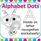 These hands on letter worksheets were created to help with letter recognition and can be used in many different ways.  The dots can be colored, pai...