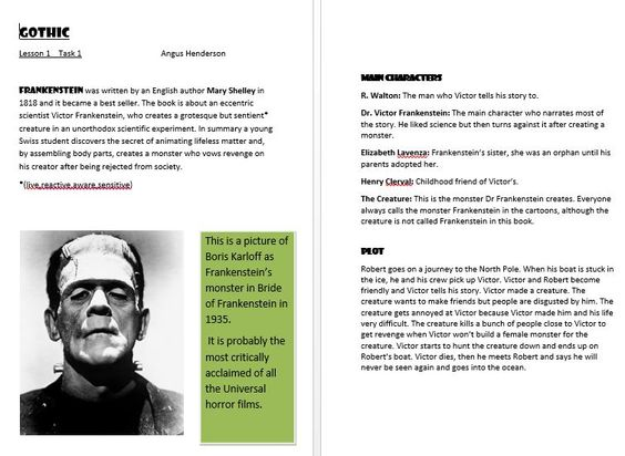 frankenstein gothic novel essay Frankenstein as a gothic novel essay acclaimed author stephen kings #1 bestselling time-travel novel—soon to be a limited series on hulu—available with movie ti.