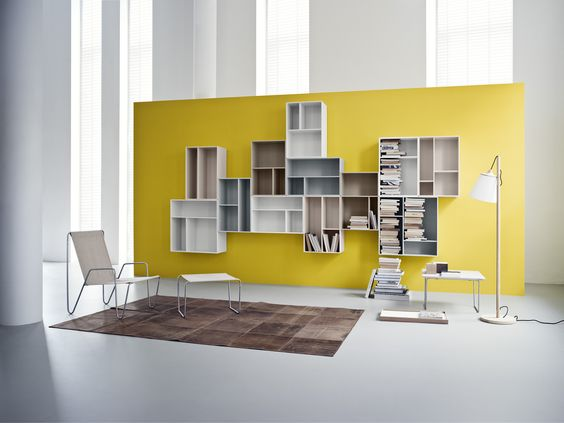 A Library At Home. #Montana#Danish #Design #Furniture #Storage