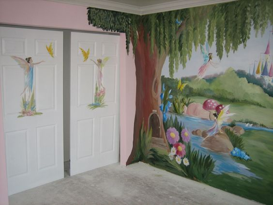 Disney my boys and furniture on pinterest for Fairy princess bedroom ideas