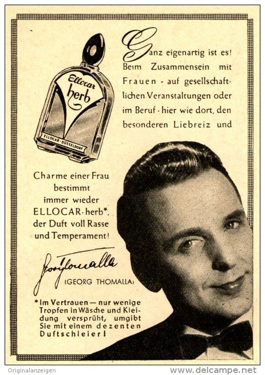 Original-Werbung/Anzeige 1954 - ELLOCAR HERB / GEORG THOMALLA - ca. 65 x 100 mm