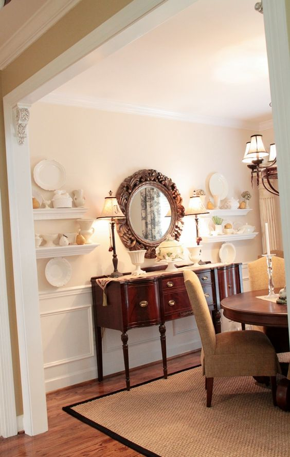 Dining Rooms Shelves And Buffet On Pinterest
