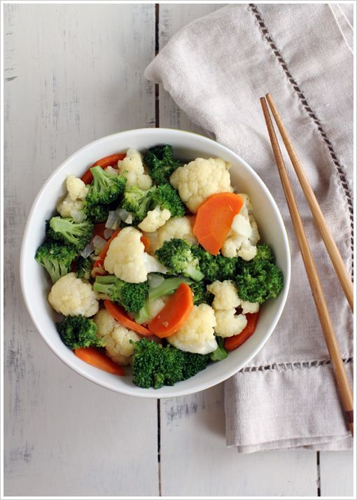 Tree of Life Stir Fry by dashofeast: Quick and easy, flavored with miso, agave and ginger.  Serve it as a side or on top of brown or jasmine rice. #Stir_Fry #Vegetables #tasteofeast